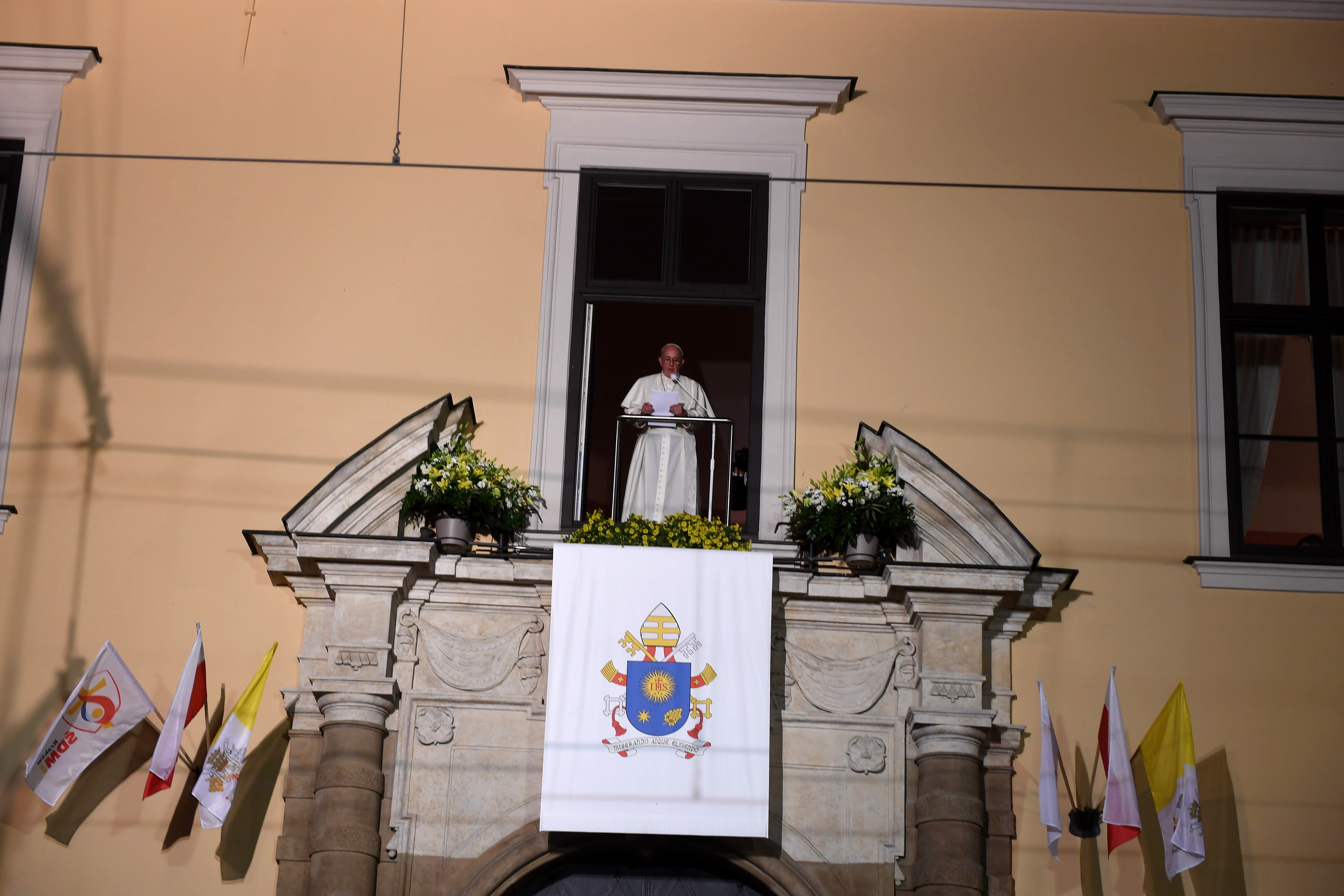 """Podziękowanie papieża Franciszka w """"Oknie Papieskim"""", 31.07.2016"""
